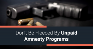 Don't Be Fleeced by Unpaid Amnesty Programs